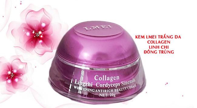 Kem Lmei dưỡng trắng da linh chi đông trùng collagen
